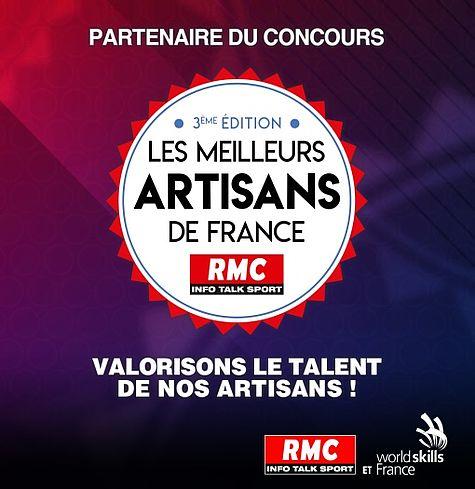 wedi est partenaire de la 3ème édition du concours des Meilleurs Artisans de France RMC !