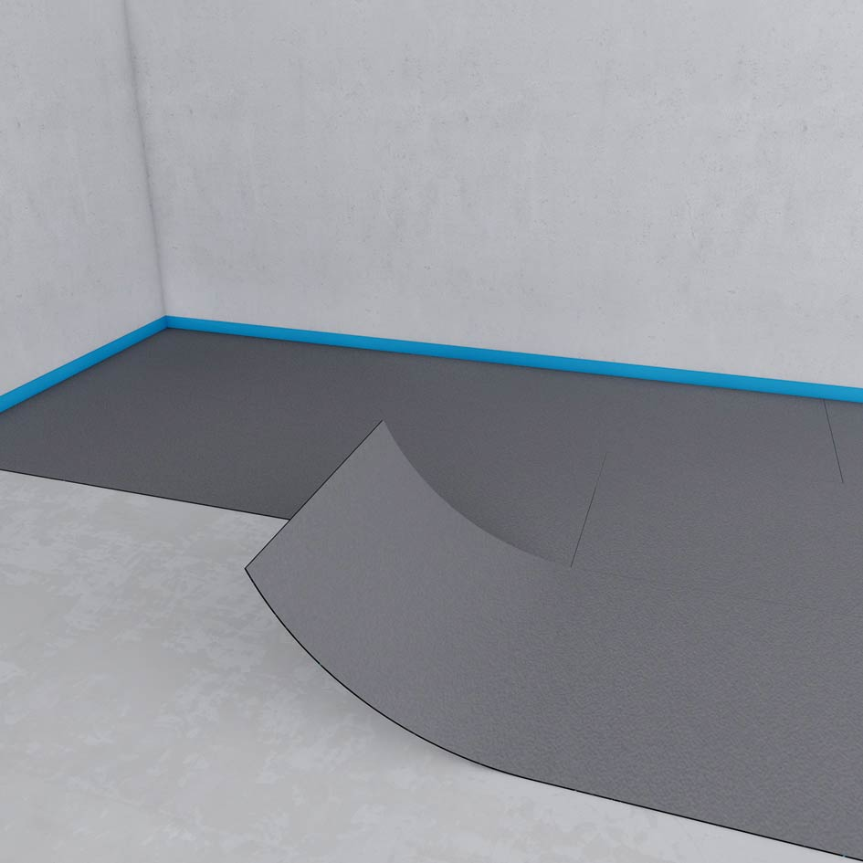 Sound decoupling on uneven surfaces wedi even out any rough unevenness before tiling it can be cut simply using a carpet cutter dailygadgetfo Choice Image