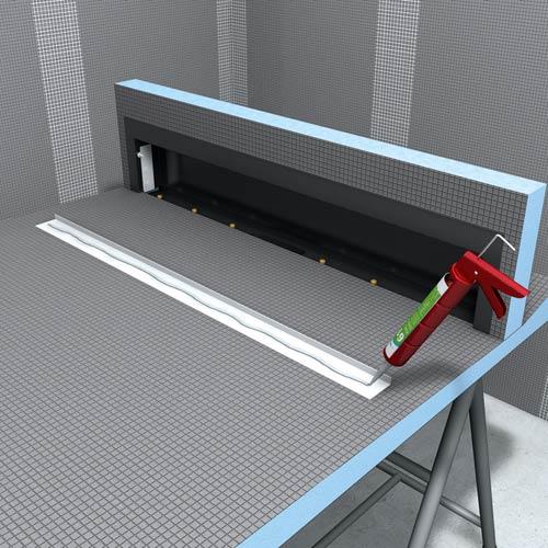optischer wandablauf. Black Bedroom Furniture Sets. Home Design Ideas