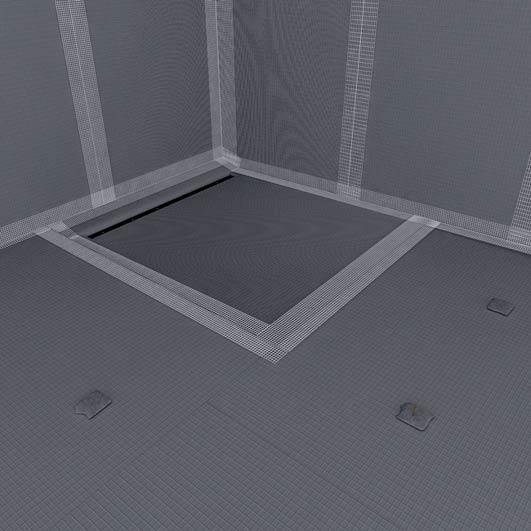 coulement horizontal sur supports en bois. Black Bedroom Furniture Sets. Home Design Ideas