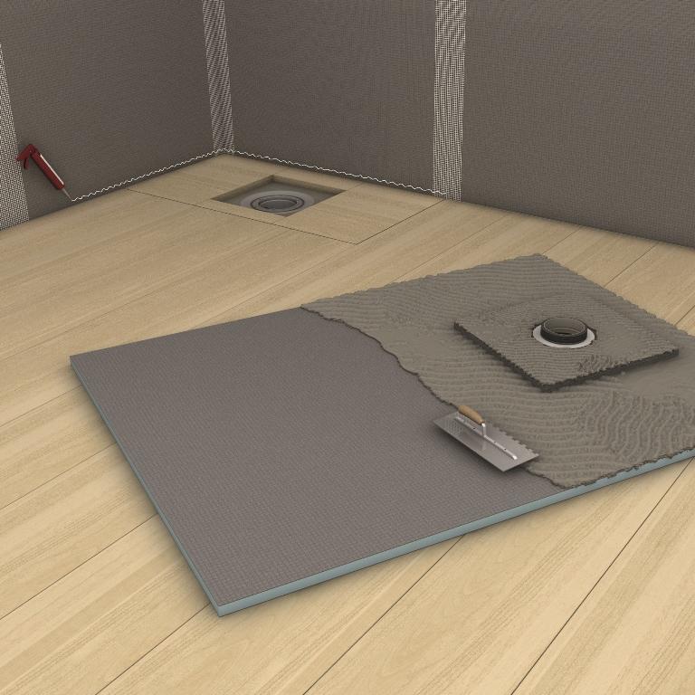 coulement centr sur un plancher en poutres de bois. Black Bedroom Furniture Sets. Home Design Ideas