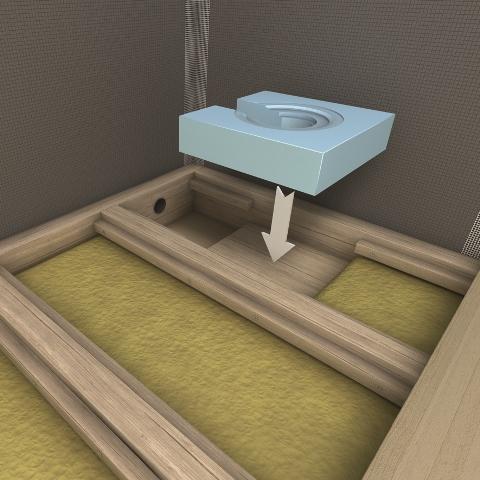 punktentw sserung in holzbalkendecken integriert fundo. Black Bedroom Furniture Sets. Home Design Ideas