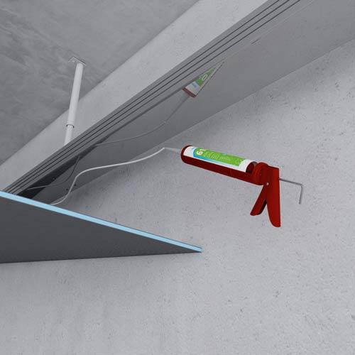 Galisation et faux plafonds for Faux plafond colle