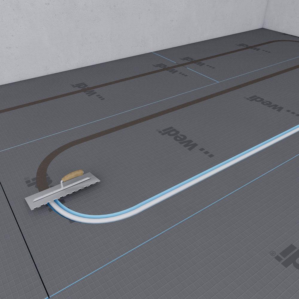 Water Floor Heating System Wedi De