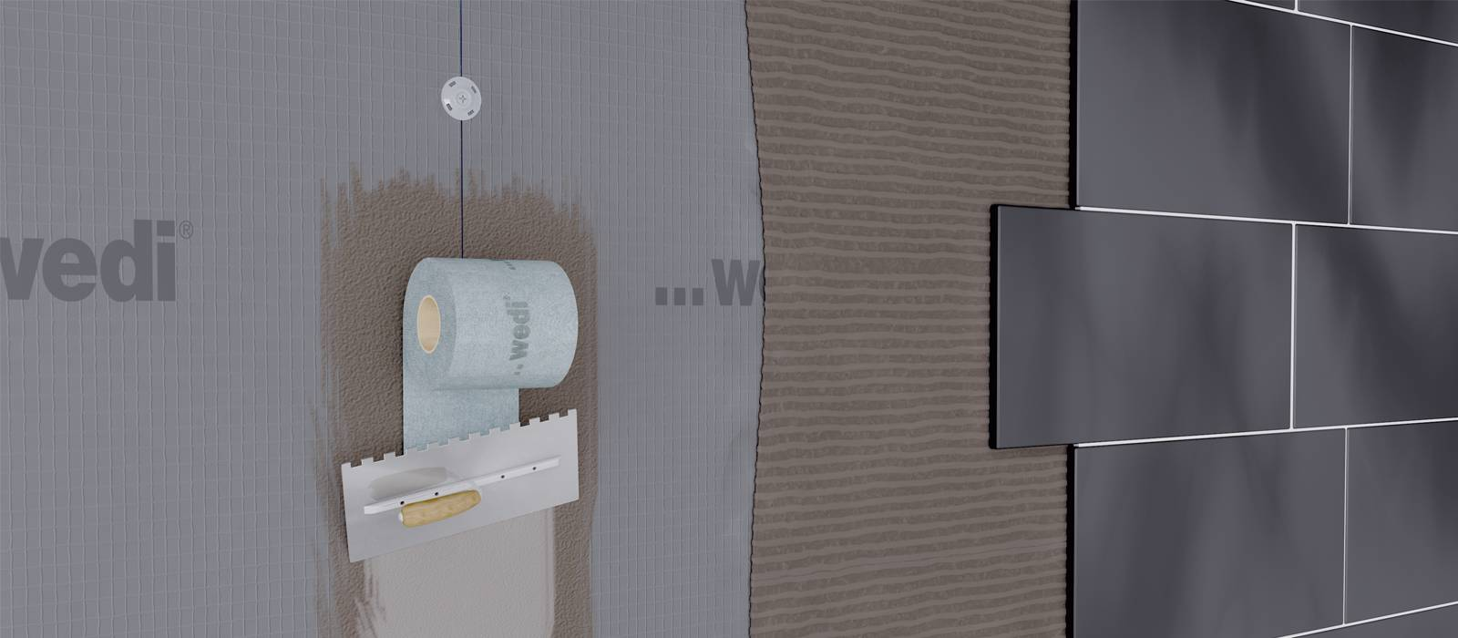 Shower walls and wet areas