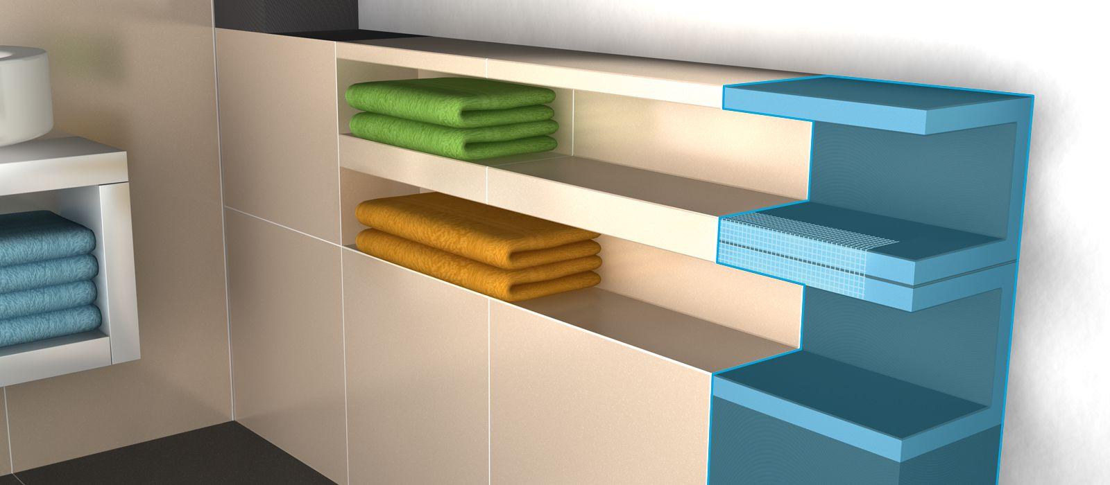 wedi mensolo l u fertigelemente f r verkleidungen und regale. Black Bedroom Furniture Sets. Home Design Ideas