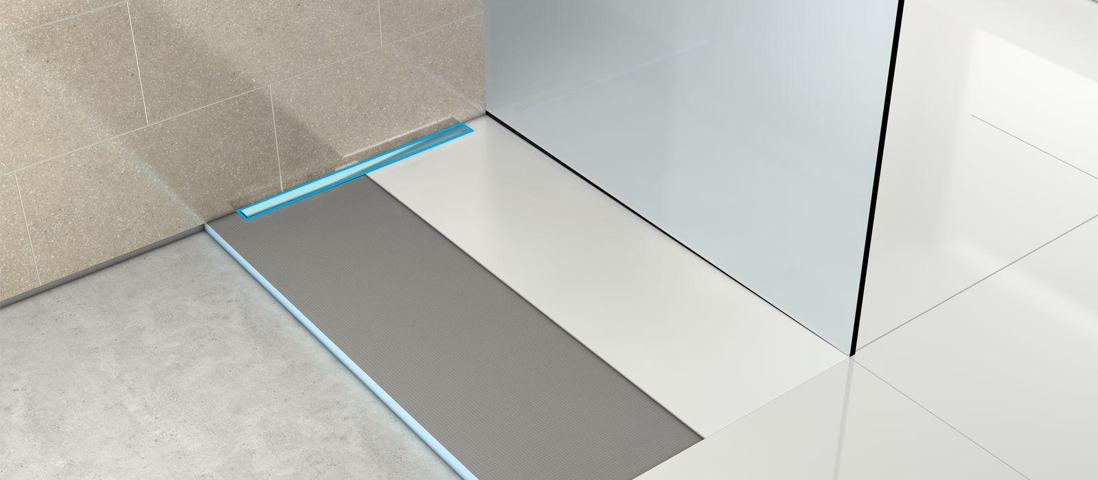 linear drain. Black Bedroom Furniture Sets. Home Design Ideas