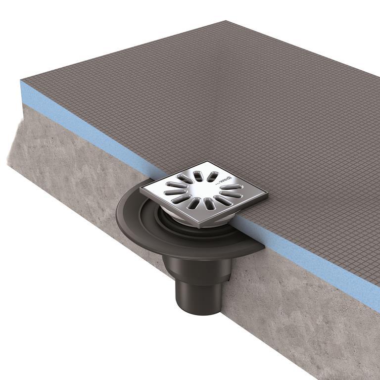 wedi fundo ablauf punktentw sserung senkrecht. Black Bedroom Furniture Sets. Home Design Ideas