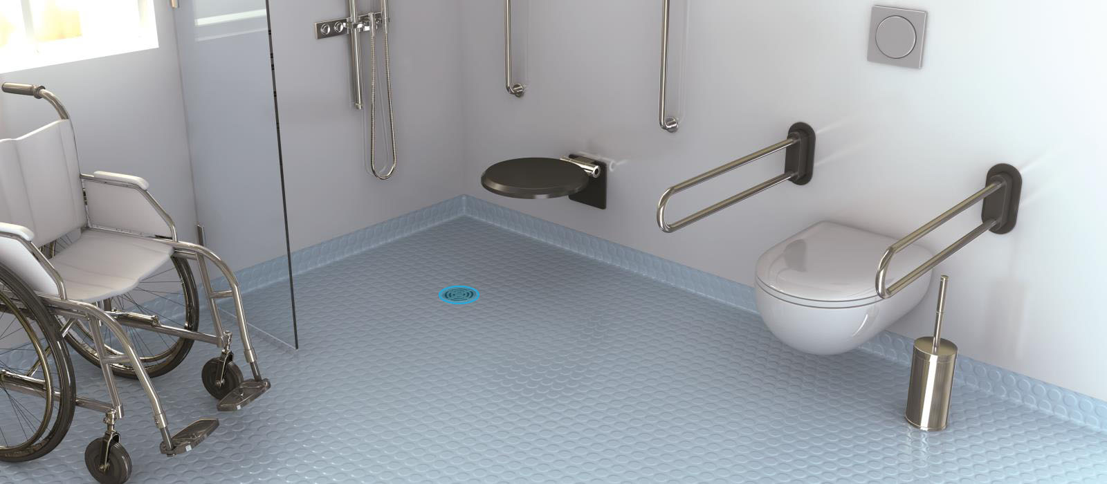 Horizontal drain for wedi Solso (point drainage)