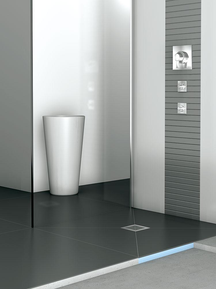 wedi Fundo Plano – Das flachste wedi Komplettsystem mit ... | {Bodengleiche duschwanne mit extra flachem ablaufsystem 18}
