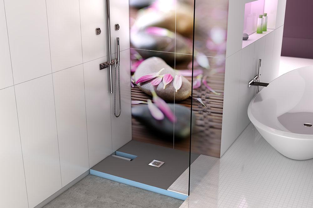 Bodentiefe Dusche Abdichten: Begehbare dusche aus acryl mm badewannen ...