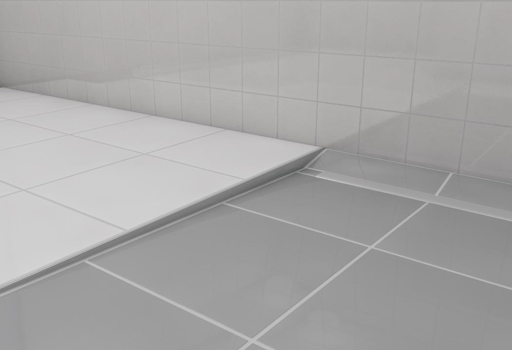 gef lleprofil wand ausf hrung rechts edelstahl wedi. Black Bedroom Furniture Sets. Home Design Ideas