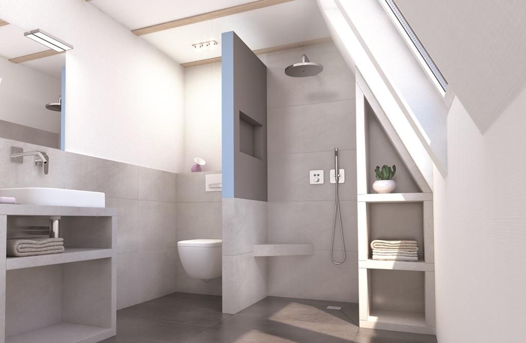 wedi sanwell cloison paroi de douche avec niche int gr e. Black Bedroom Furniture Sets. Home Design Ideas