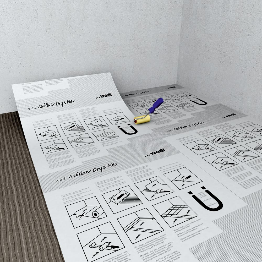 wedi subliner dry flex tanch it et d solidarisation en un seul geste. Black Bedroom Furniture Sets. Home Design Ideas