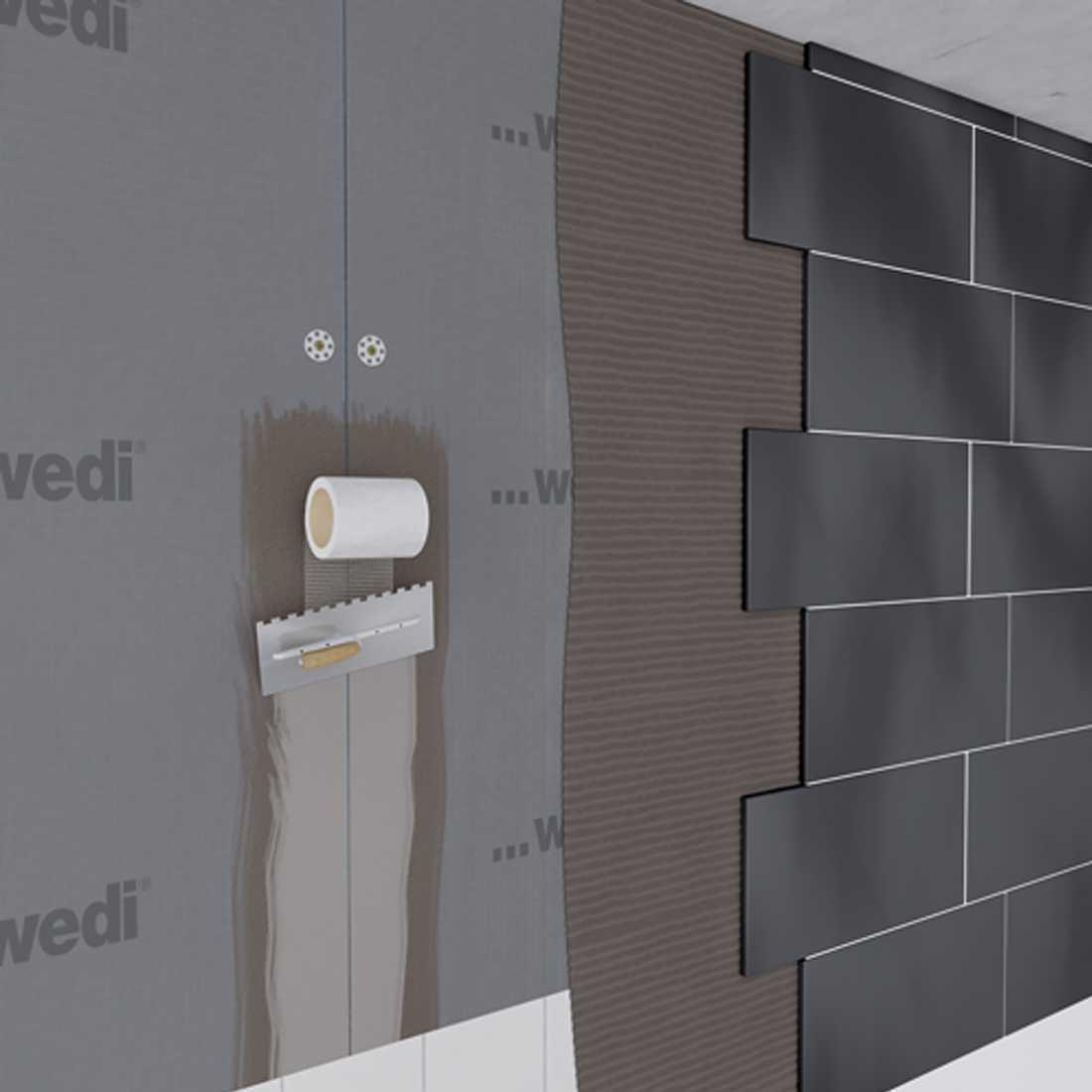 wedi 320 universell einsetzbarer fliesenkleber. Black Bedroom Furniture Sets. Home Design Ideas