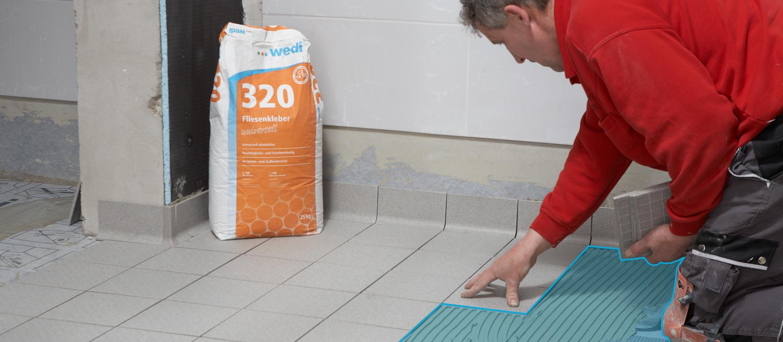 Wedi 320 universal flexible thin bed mortar wedi wedi 320 universal tile adhesive for thin bed bonding dailygadgetfo Choice Image