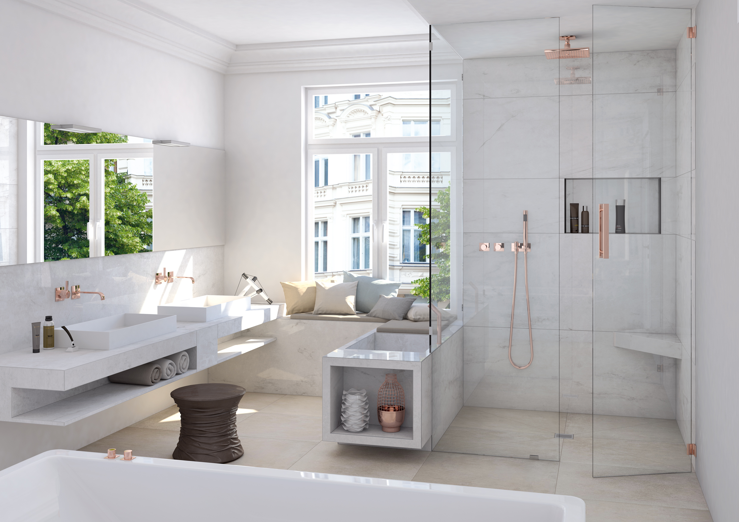 shower seats and benches