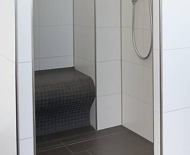 Nuova costruzione bagno privato (Fundo Riolito, pannello, Sanoasa)